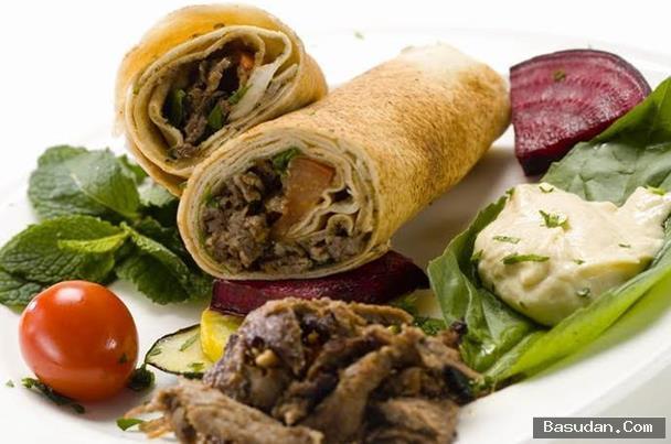 شاورما اللحم الصحية طريقه شاورما