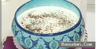 حساء اللبن بالأرز تقديم حساء