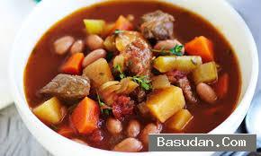 حساء الخضار واللحم حساء الخضار