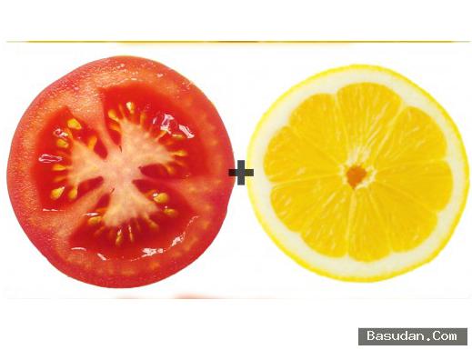 ماسك الطماطم والليمون لتبييض البشرة