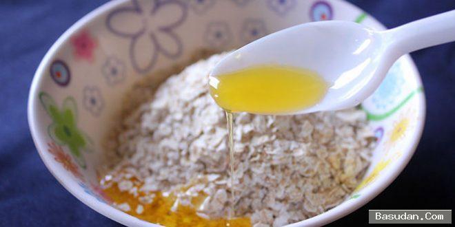 ماسك العصيدة والعسل للبشرة ماسك