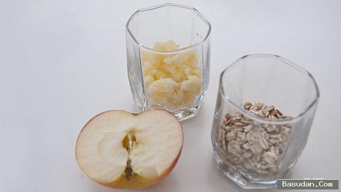 ماسك الشوفان والتفاح للبشرة ماسك