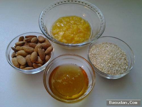 ماسك اللوز والعسل لترطيب البشرة