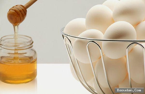 ماسك زلال البيض والعسل للعناية