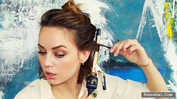 كيفية استخدام مكواة الشعر المنزل