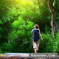 المشي السعادة والتفاؤل
