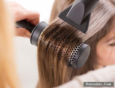 طريقة استشوار الشعر الخشن